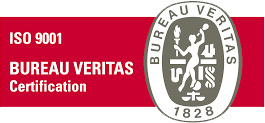 Logo of Bureau Veritas and ISO 9001
